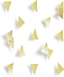 Wanddekoration Konfetti Triangles - Messing - 16 Stück - Umbra